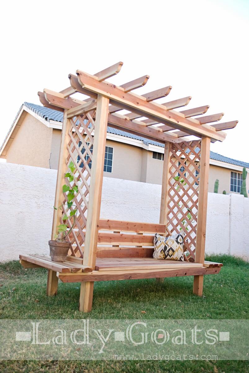 arbor garden bench plans