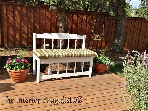 twin bed garden bench