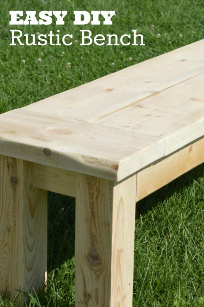easy rustic diy garden bench plans