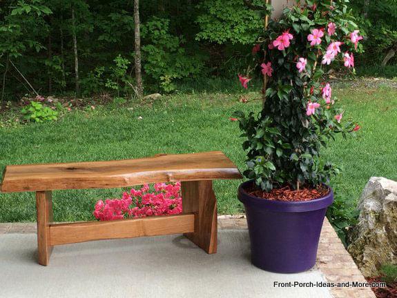 raw cherry wood garden bench plans