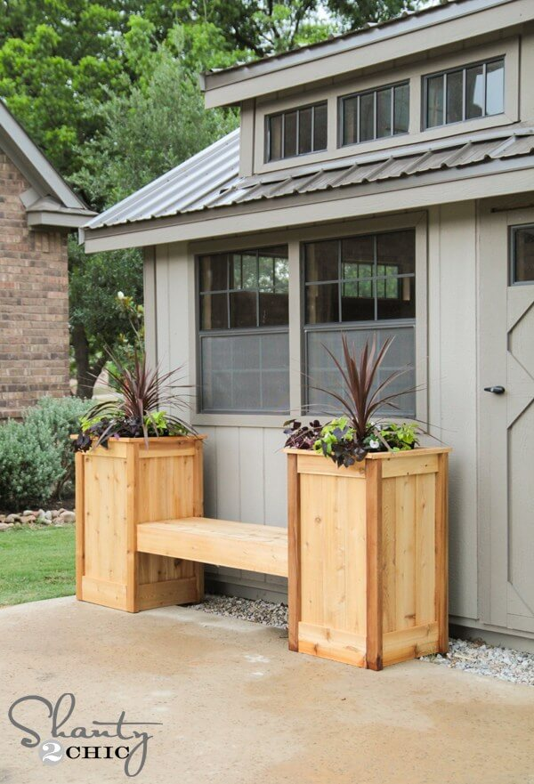 easy planter garden bench plans