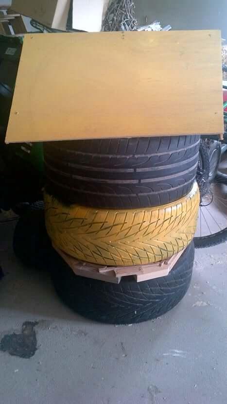 tire-beehive