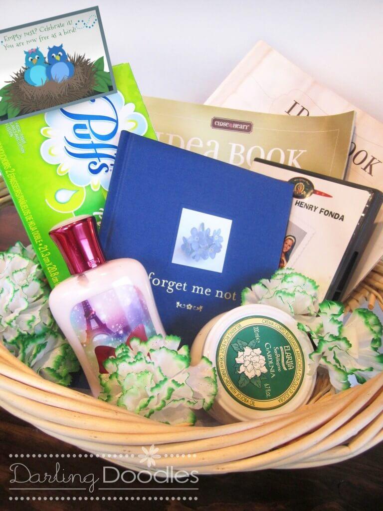 empty nester gift basket