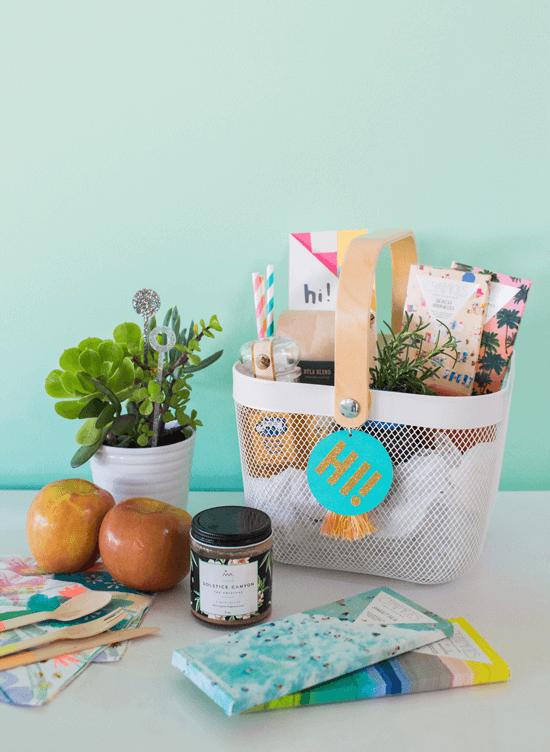 welcome neighbor gift basket