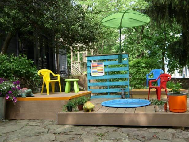 Kiddie DIY Pool Deck Plans