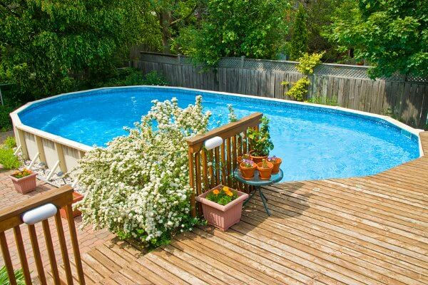aboveground diy pool deck