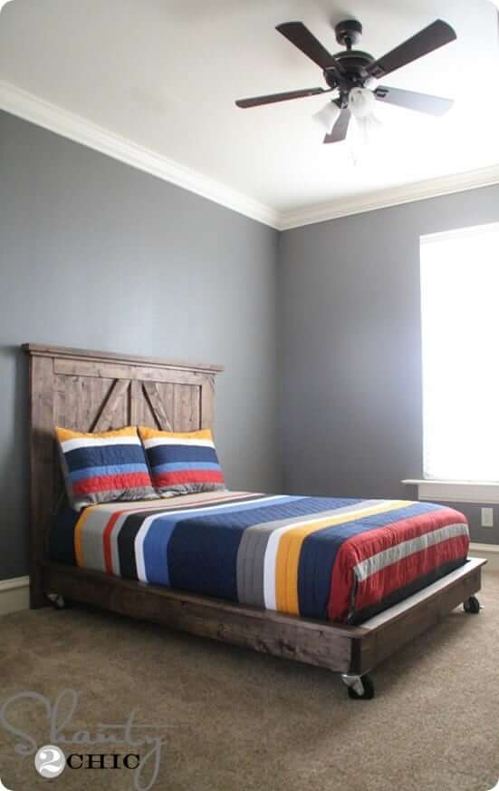 Platform Twin Bed With Wheels Attached