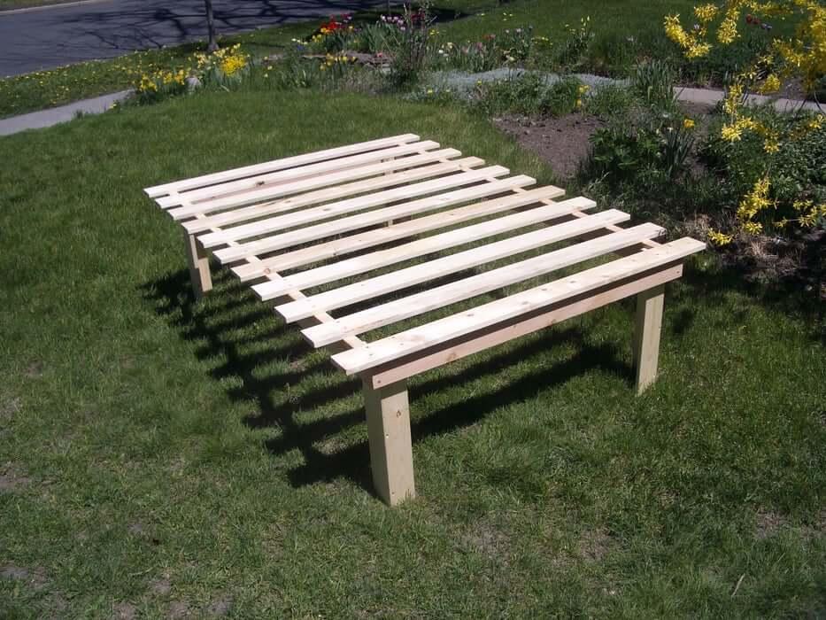 High-Rise Wooden Platform Bed
