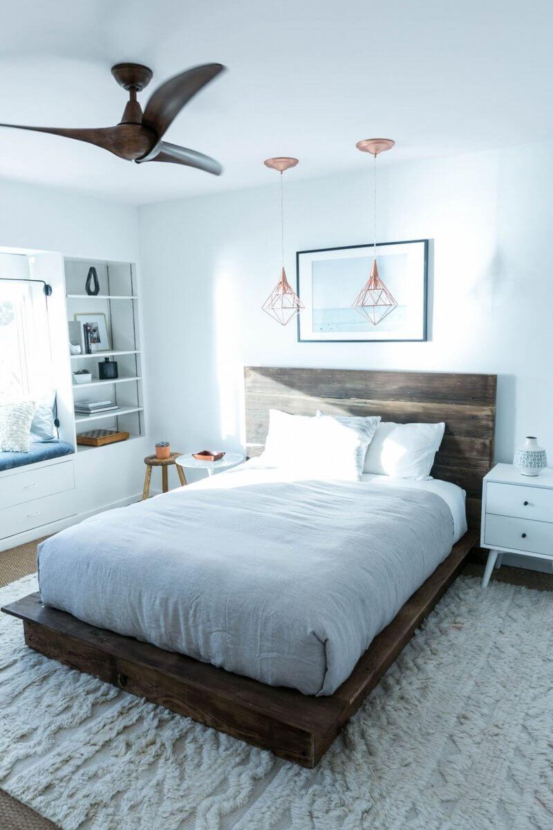 DIY Queen Reclaimed Wood Platform Bed