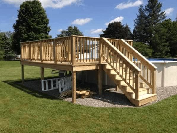 Simple DIY Pool Deck
