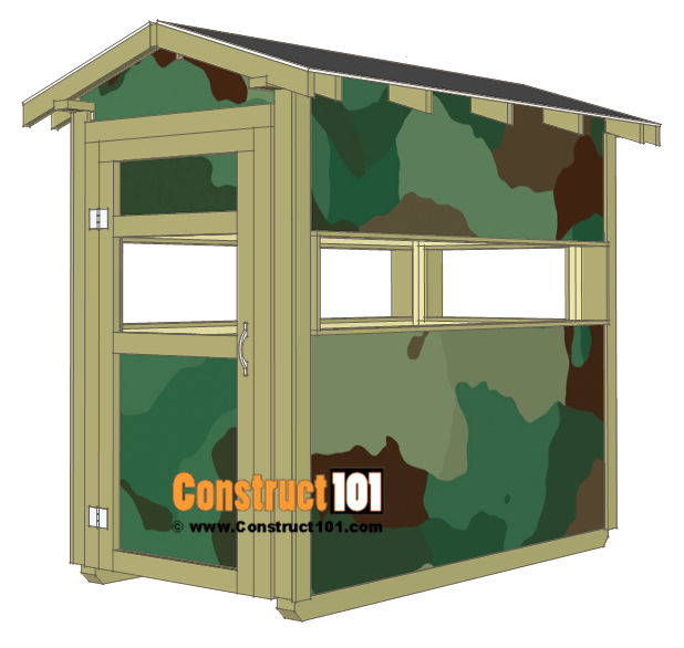 4-by-8 Covered Deer Stand Plans