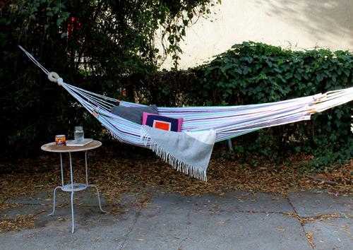 DIY Beach Towel Hammock