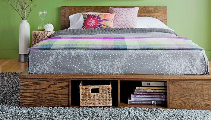 Built-In Storage DIY Platform Bed
