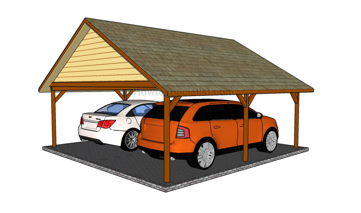 Freestanding Double DIY Carport