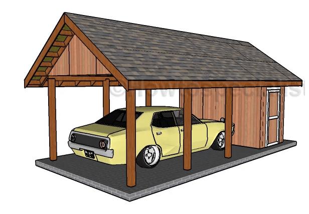 DIY Carport With Storage