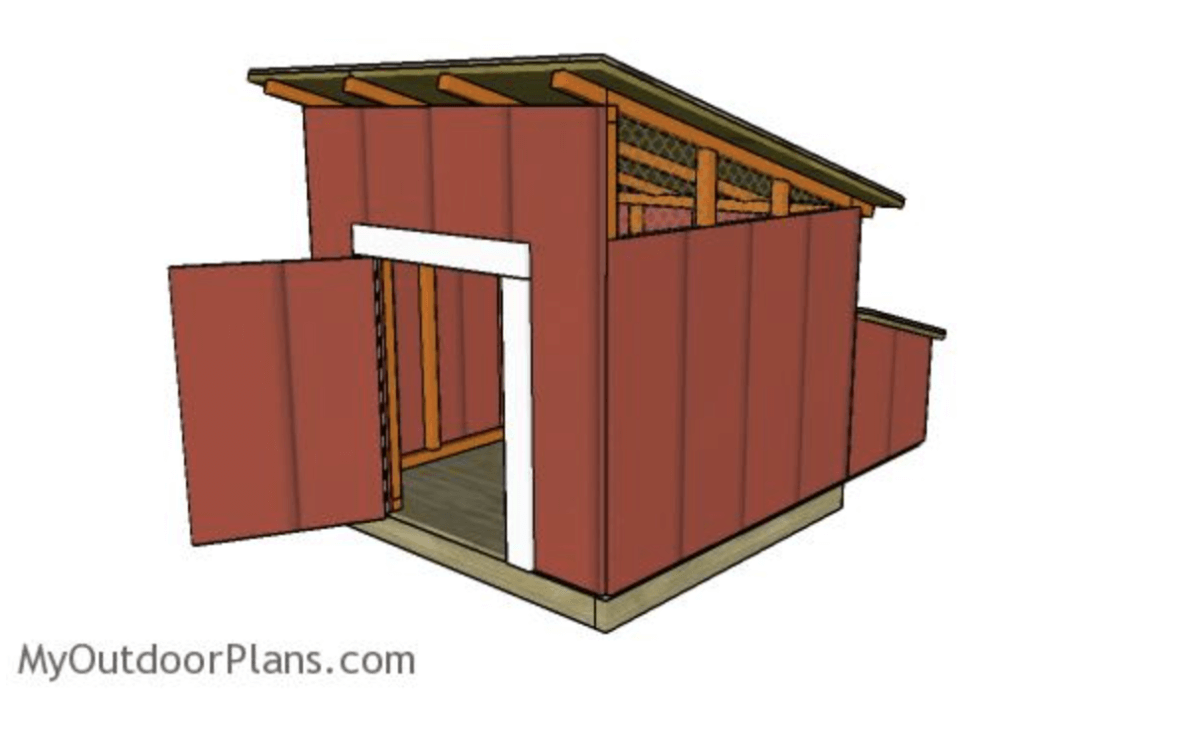 4-by-4 Standard DIY Duck House From My Outdoor Plans