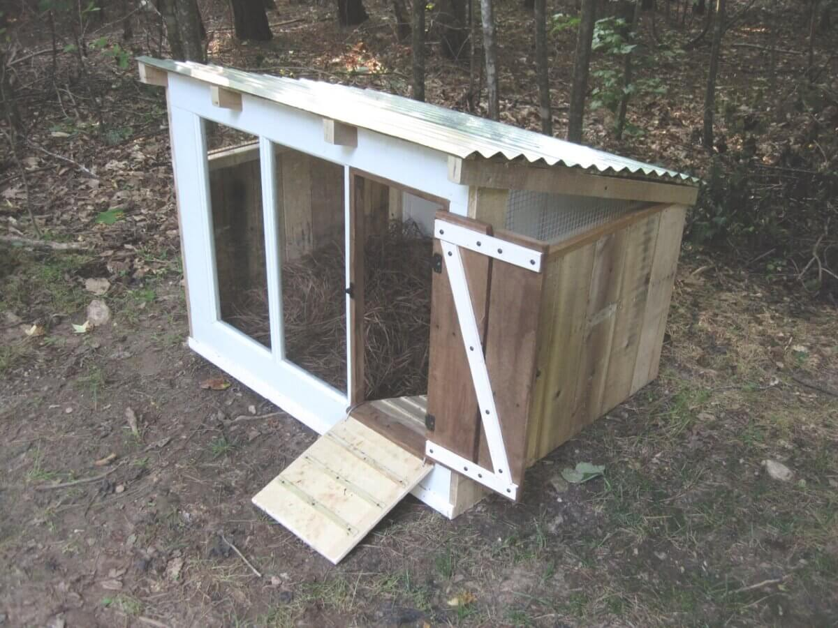 Accessible Slanted Roof Duck House