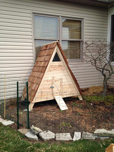 A-Frame Duck Houseby a house