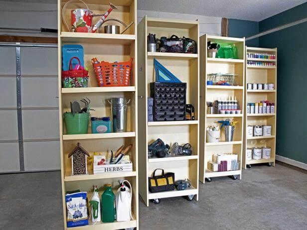 diy rolling storing shelves