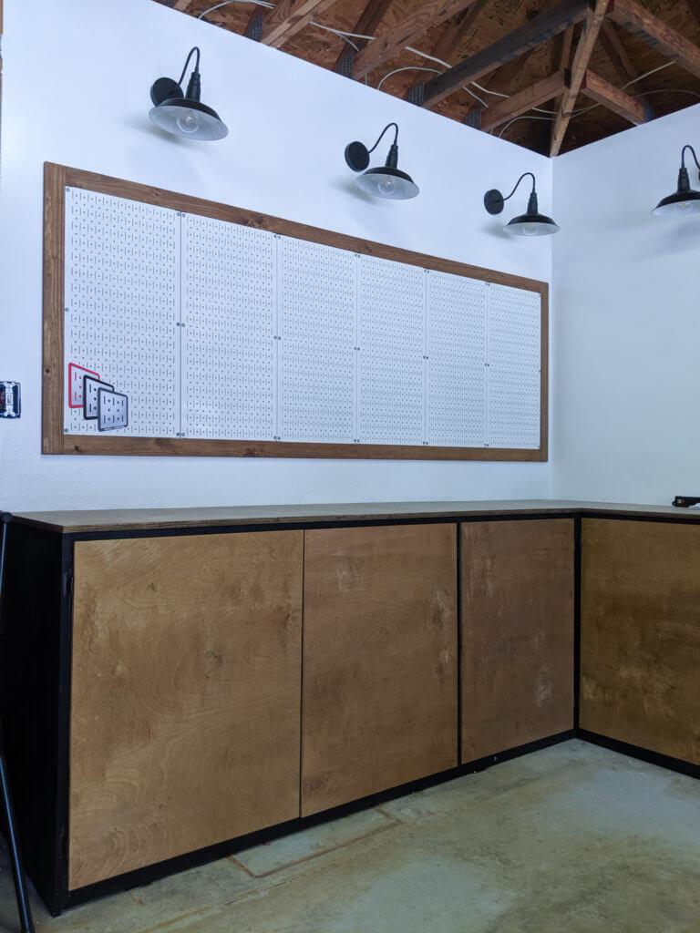 DIy Functional Garage Cabinets