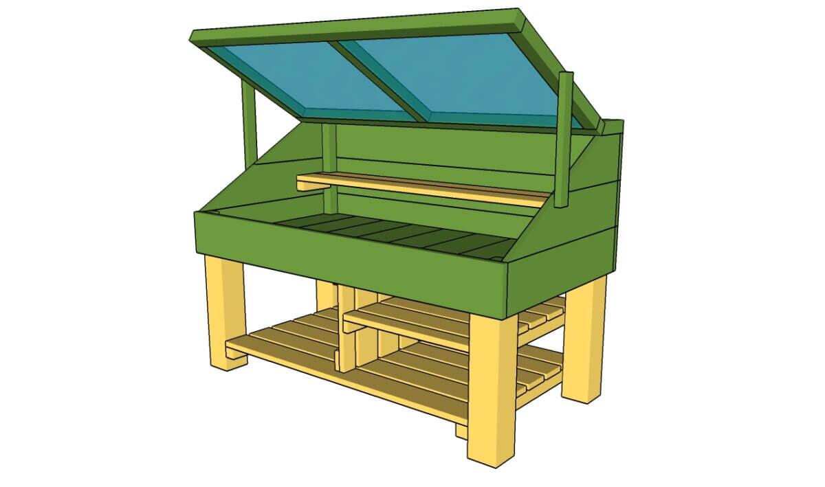 Greenhouse-Style DIY Potting Bench