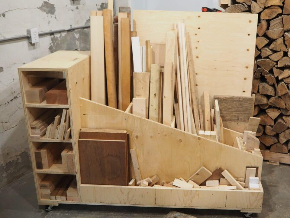 Ultimate Lumber Storage Cart