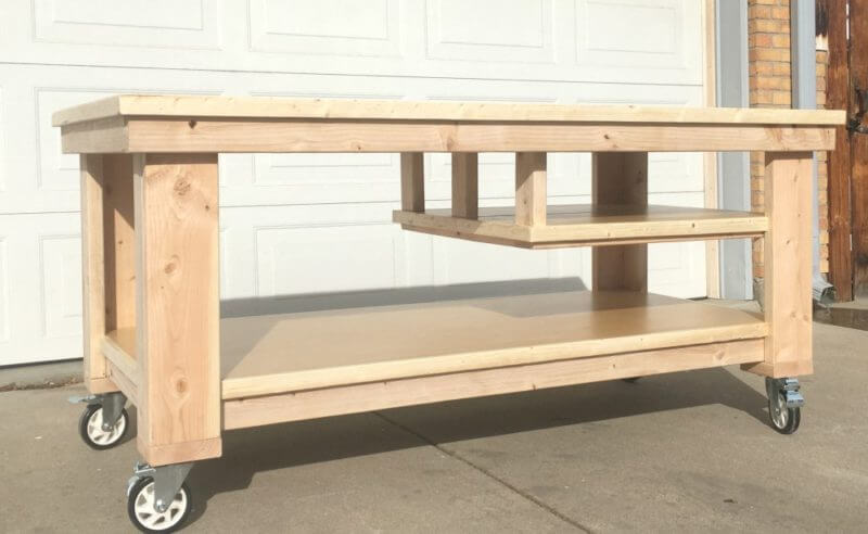 diy garage work bench