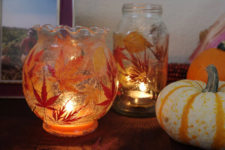 Autumn Leaf Lanterns