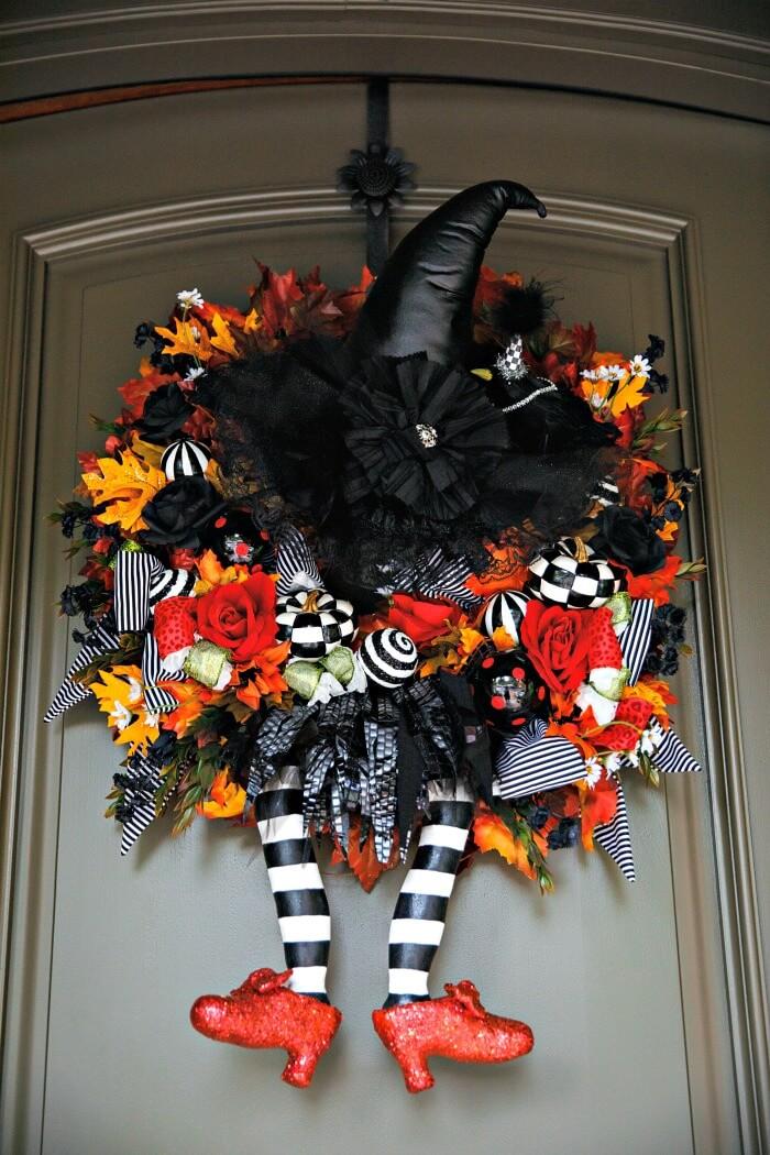 Creepy Witch Legs DIY Halloween Decoration