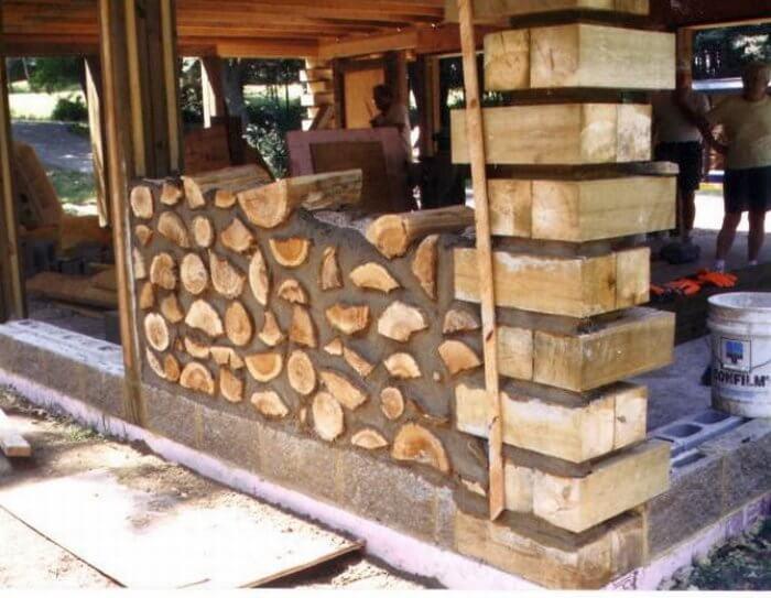 cordwood construction
