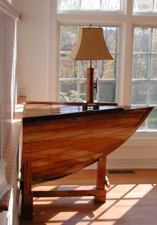 Old Boats Become Furniture Insteading