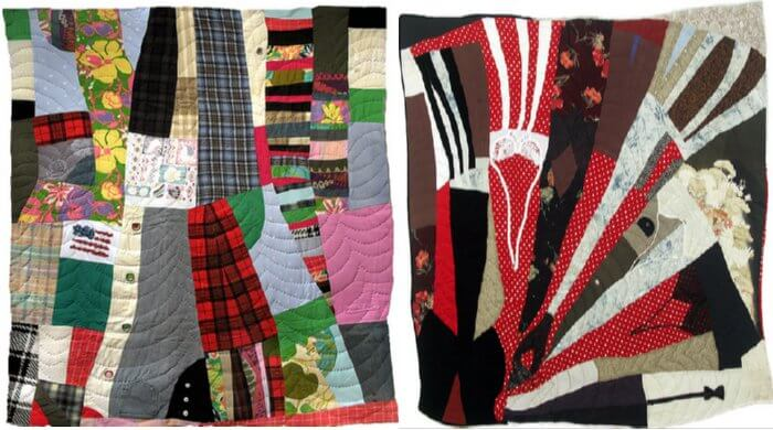 how to use old clothes to make a quilt