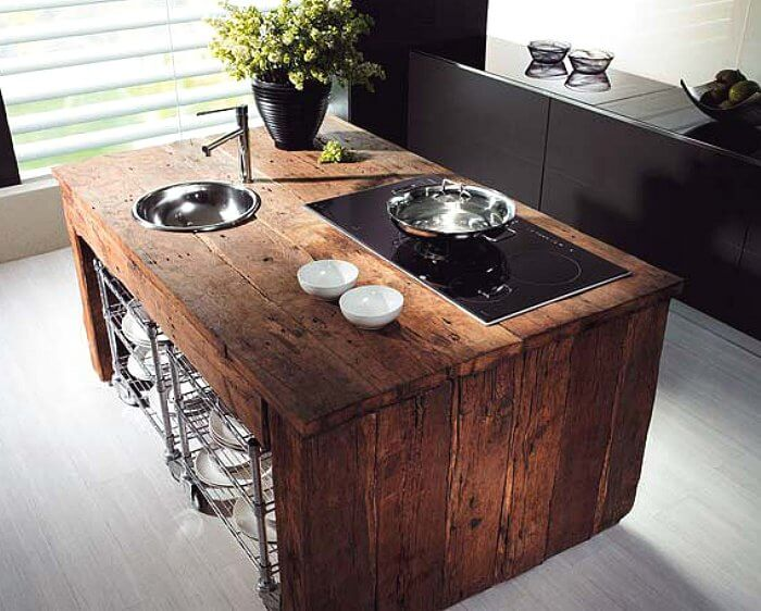 Salvaged Kitchen Island