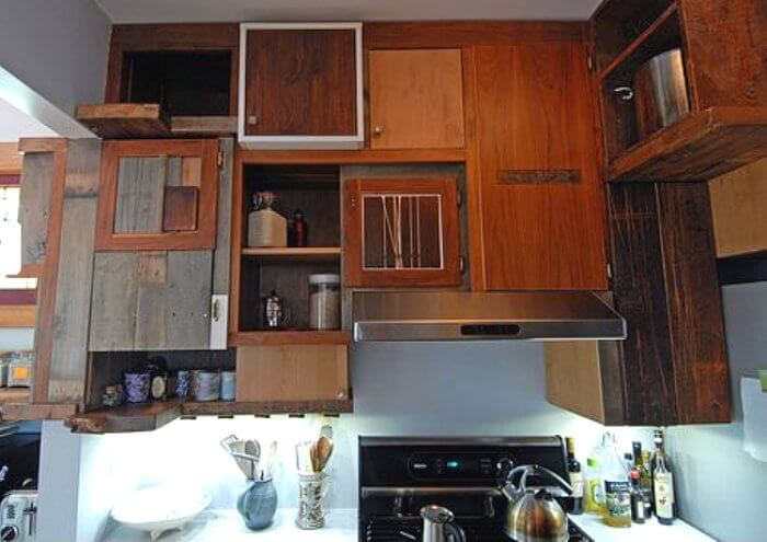 Cool Salvaged Kitchen Cabinets Insteading Home Interior And Landscaping Ferensignezvosmurscom