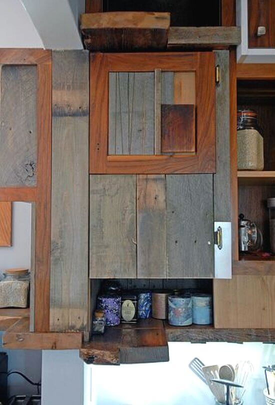 Salvaged kitchen cabinets insteading for Reclaimed wood oregon