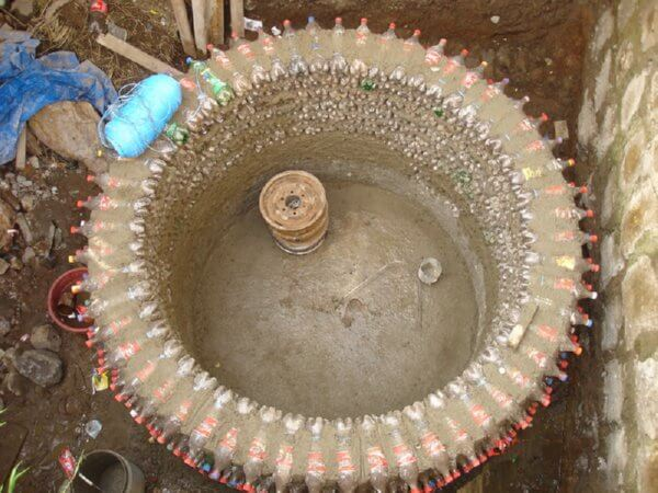 plastic bottle water tank