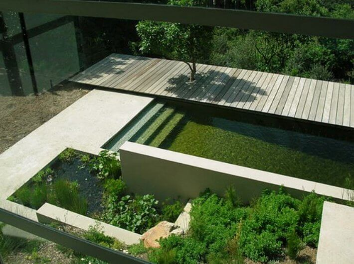 Natural pools or swimming ponds insteading for Greenhouse over swimming pool