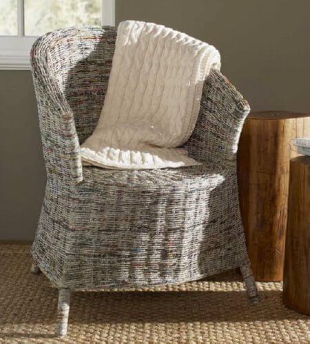 newspaper-chair