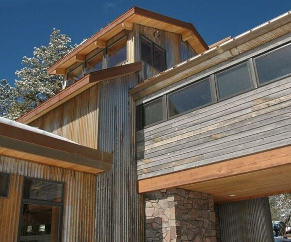 Corrugated metal ideas for the home insteading for Metal wood siding