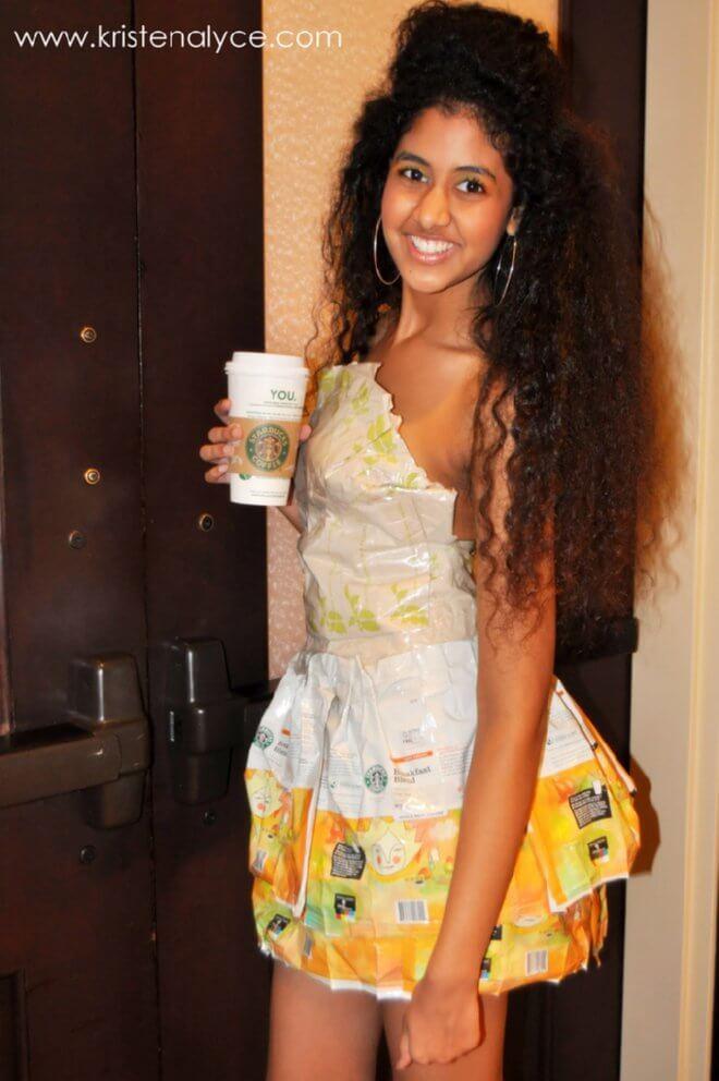 coffee bag dress