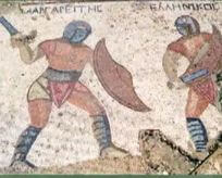 gladiators fighting