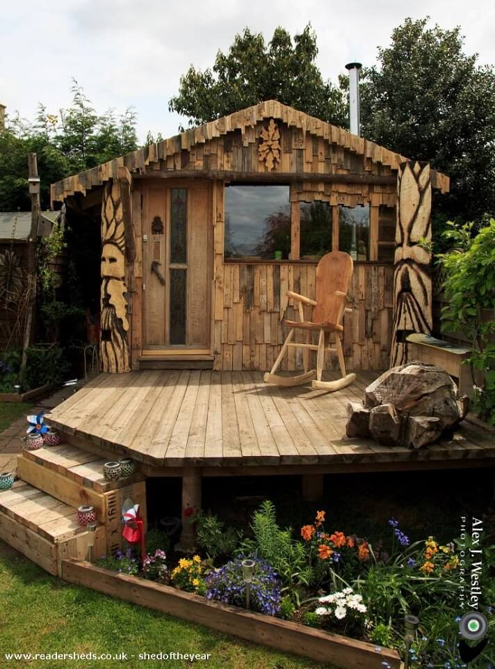 shed of the year pallet shingled shed