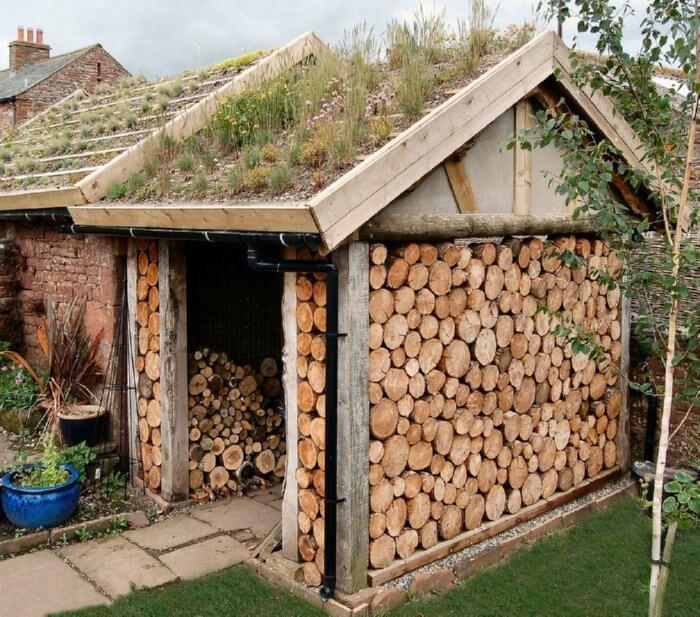 cordwood shed