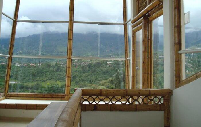 bamboo railing