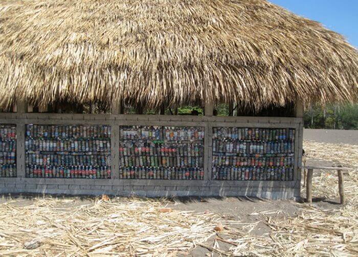 plastic bottle building