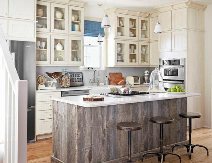 old wood kitchen island - Furniture In Kitchen