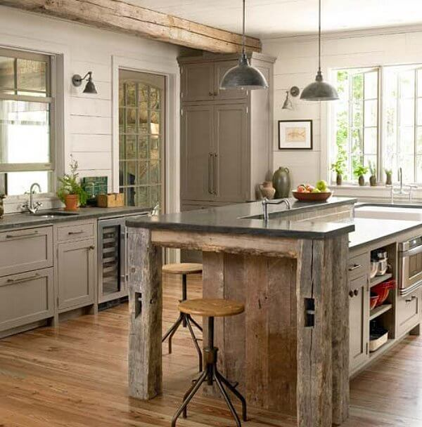 Kitchen Wood Ideas: Salvaged Kitchen Cabinets • Insteading