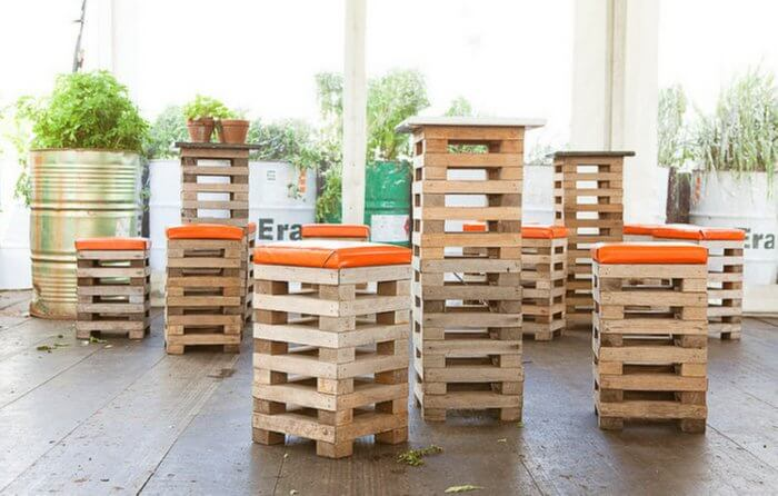 Pallet Furniture: Chairs. Wood Pallet Reuse