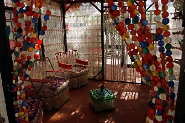 bottle cap curtains