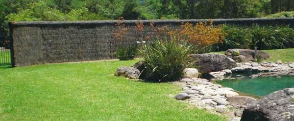 pool and brushwood fencing